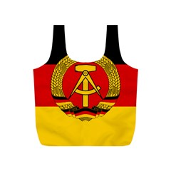 Flag of East Germany Full Print Recycle Bags (S)