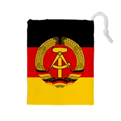 Flag of East Germany Drawstring Pouches (Large)
