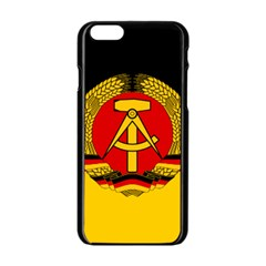 Flag of East Germany Apple iPhone 6/6S Black Enamel Case