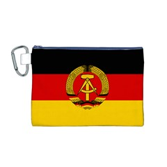 Flag of East Germany Canvas Cosmetic Bag (M)