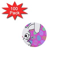 Easter bunny  1  Mini Buttons (100 pack)