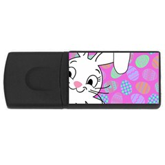Easter bunny  USB Flash Drive Rectangular (1 GB)