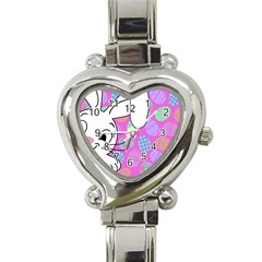 Easter bunny  Heart Italian Charm Watch