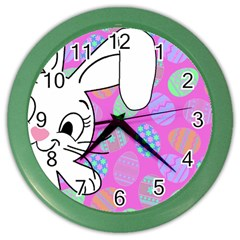 Easter bunny  Color Wall Clocks