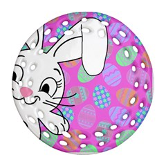 Easter bunny  Ornament (Round Filigree)