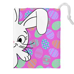 Easter bunny  Drawstring Pouches (XXL)