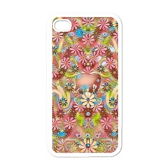 Jungle Life And Paradise Apples Apple iPhone 4 Case (White)