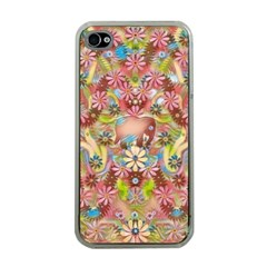 Jungle Life And Paradise Apples Apple Iphone 4 Case (clear)