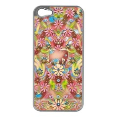 Jungle Life And Paradise Apples Apple iPhone 5 Case (Silver)