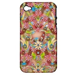 Jungle Life And Paradise Apples Apple iPhone 4/4S Hardshell Case (PC+Silicone)