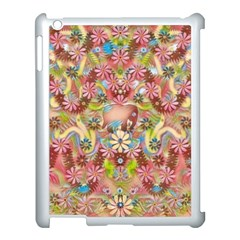Jungle Life And Paradise Apples Apple iPad 3/4 Case (White)