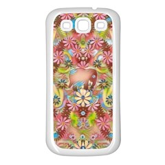 Jungle Life And Paradise Apples Samsung Galaxy S3 Back Case (White)