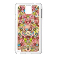 Jungle Life And Paradise Apples Samsung Galaxy Note 3 N9005 Case (White)