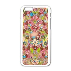 Jungle Life And Paradise Apples Apple Iphone 6/6s White Enamel Case