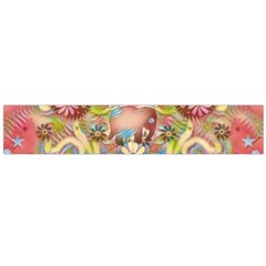Jungle Life And Paradise Apples Flano Scarf (Large)