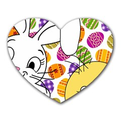 Easter bunny and chick  Heart Mousepads