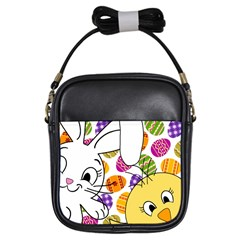 Easter bunny and chick  Girls Sling Bags