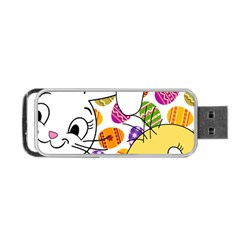 Easter bunny and chick  Portable USB Flash (One Side)