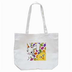 Easter bunny and chick  Tote Bag (White)