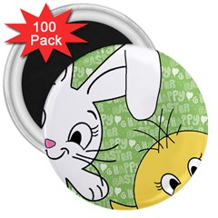 Easter bunny and chick  3  Magnets (100 pack)