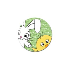 Easter bunny and chick  Golf Ball Marker