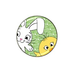 Easter bunny and chick  Hat Clip Ball Marker (4 pack)