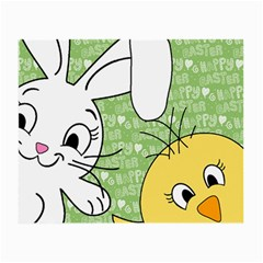 Easter bunny and chick  Small Glasses Cloth