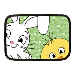 Easter bunny and chick  Netbook Case (Medium)