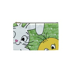 Easter bunny and chick  Cosmetic Bag (Small)
