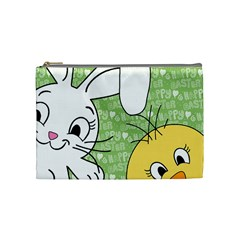 Easter bunny and chick  Cosmetic Bag (Medium)