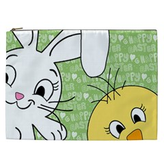 Easter bunny and chick  Cosmetic Bag (XXL)