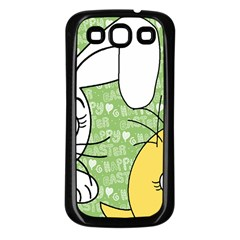 Easter bunny and chick  Samsung Galaxy S3 Back Case (Black)