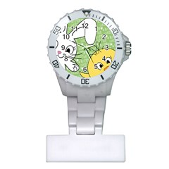 Easter bunny and chick  Plastic Nurses Watch