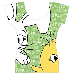Easter bunny and chick  Women s V-Neck Cap Sleeve Top