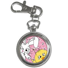 Easter bunny and chick  Key Chain Watches