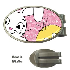 Easter bunny and chick  Money Clips (Oval)
