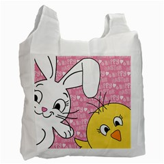 Easter bunny and chick  Recycle Bag (Two Side)