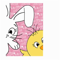 Easter bunny and chick  Large Garden Flag (Two Sides)