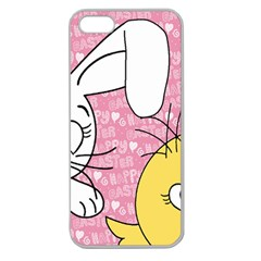 Easter bunny and chick  Apple Seamless iPhone 5 Case (Clear)