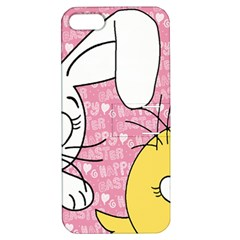 Easter bunny and chick  Apple iPhone 5 Hardshell Case with Stand