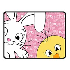 Easter bunny and chick  Double Sided Fleece Blanket (Small)