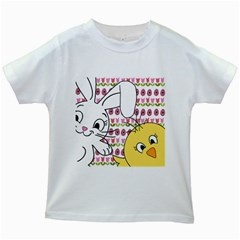 Easter bunny and chick  Kids White T-Shirts