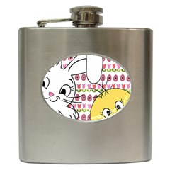 Easter bunny and chick  Hip Flask (6 oz)