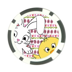 Easter bunny and chick  Poker Chip Card Guard (10 pack)