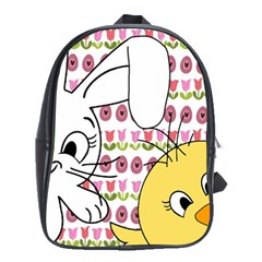 Easter bunny and chick  School Bags(Large)