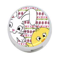 Easter bunny and chick  4-Port USB Hub (One Side)