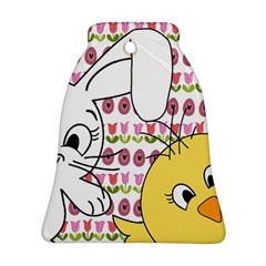 Easter bunny and chick  Bell Ornament (Two Sides)