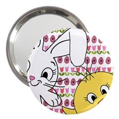Easter bunny and chick  3  Handbag Mirrors