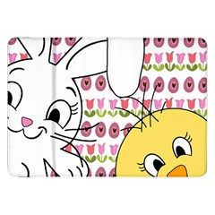 Easter bunny and chick  Samsung Galaxy Tab 8.9  P7300 Flip Case