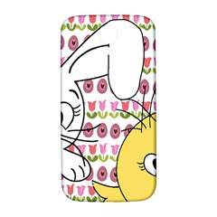 Easter bunny and chick  Samsung Galaxy S4 I9500/I9505  Hardshell Back Case